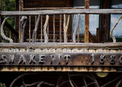 Driftwood railing